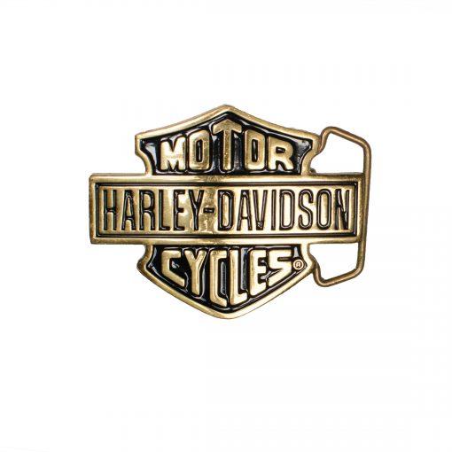 Harley-Davidson Gold/Black H302 Solid brass Belt Buckle