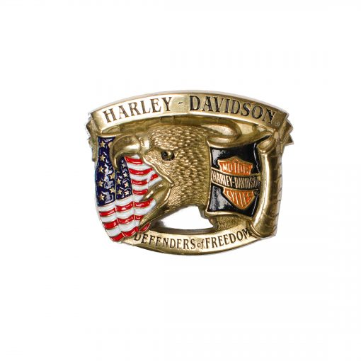 Eagle USA Flag Harley-Davidson H555 Solid Brass Belt Buckle
